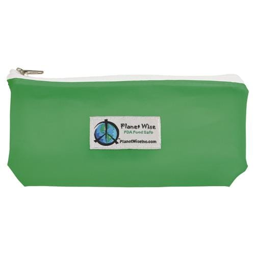 Planet Wise Reusable Tinted Zipper Snack Bag - Green