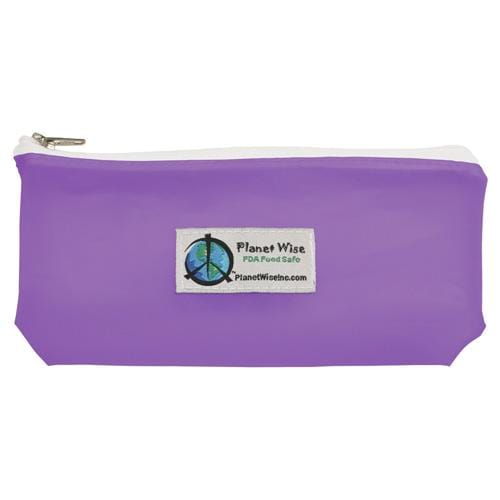 Planet Wise Reusable Tinted Zipper Snack Bag - Purple