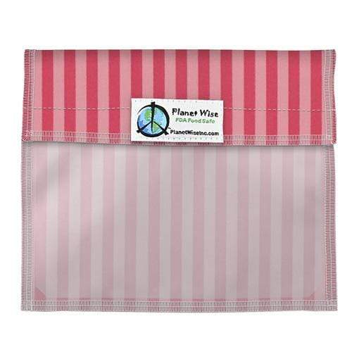 Planet Wise Reusable Window Bag - Pink Stripes