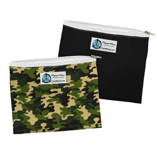 Planet Wise Reusable Zipper Sandwich Bag - Camo/Black Poly