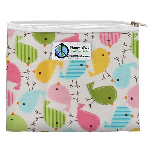 Planet Wise Reusable Zipper Sandwich Bag - Chick-a-Dees