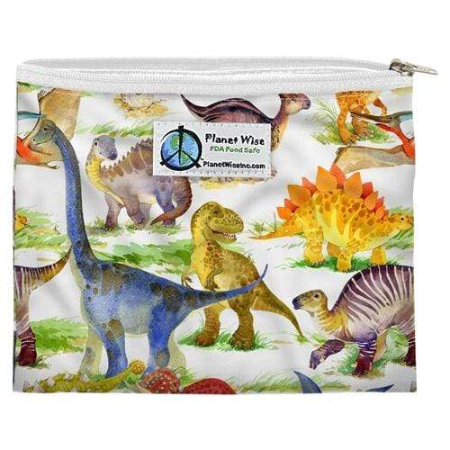 Planet Wise Reusable Zipper Sandwich Bag - Dino Mite