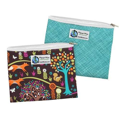 Planet Wise Reusable Zipper Sandwich Bag - Jewel Woods/Drip Drop