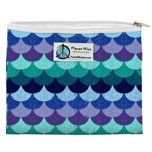 Planet Wise Reusable Zipper Sandwich Bag - Mermaid Tail