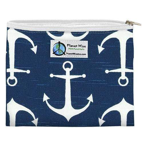 Planet Wise Reusable Zipper Sandwich Bag - Overboard