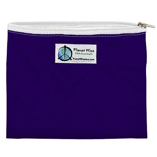 Planet Wise Reusable Zipper Sandwich Bag - Purple