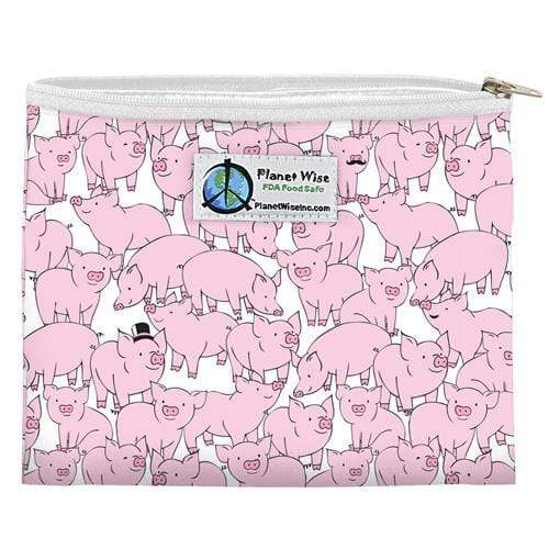 Planet Wise Reusable Zipper Sandwich Bag - This Little Piggy