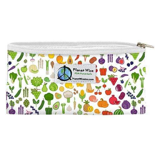 Planet Wise Reusable Zipper Snack Bag - Farmers Market