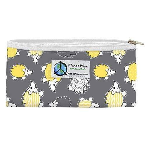 Planet Wise Reusable Zipper Snack Bag - Hedgehog