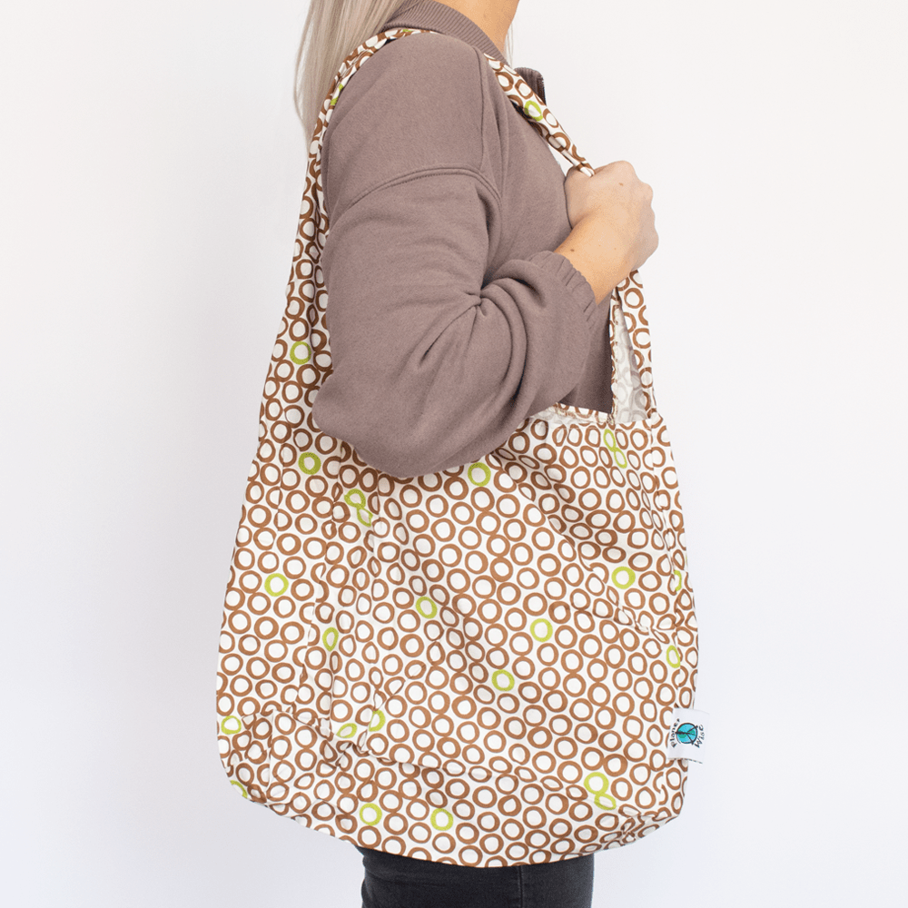 Planet Wise Shopping Tote - Lime Cocoa Bean