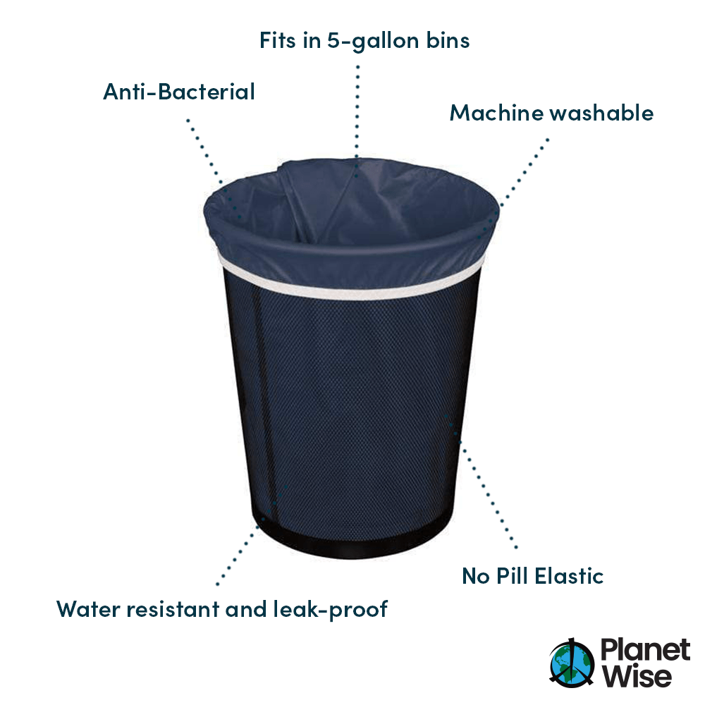 Planet Wise Small Diaper Pail Liner - Blue
