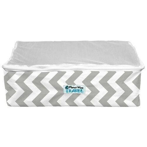 Planet Wise Small Packing Cube - Gray Chevron Way S