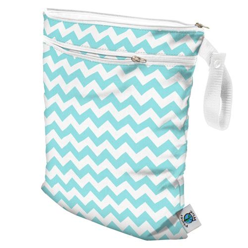 Planet Wise Wet/Dry Bag - Teal Chevron