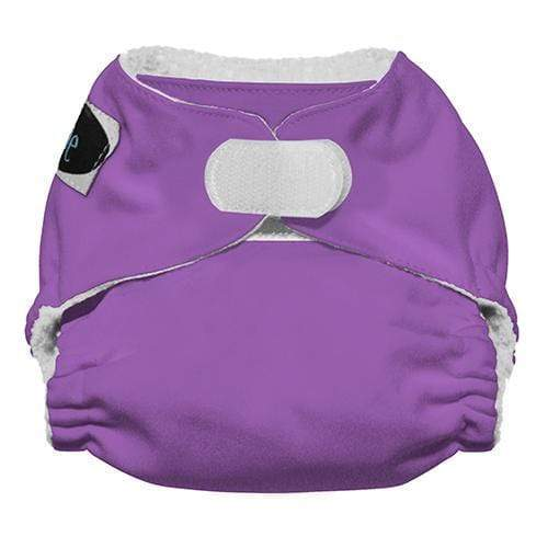 SECONDS - Imagine Newborn Hook and Loop Stay Dry All in One Diaper - Amethyst