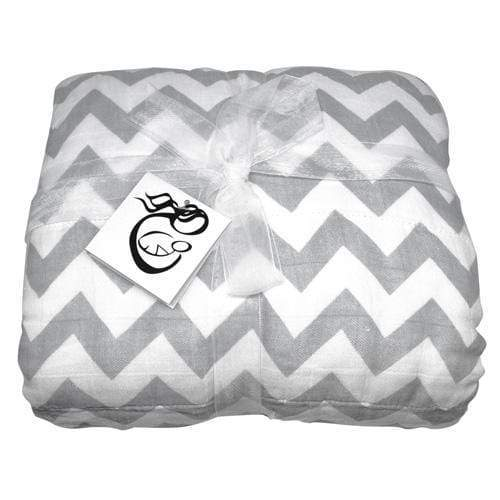 SECONDS - Nicki's Diapers Bamboo Throw Blanket - Gray Chevron
