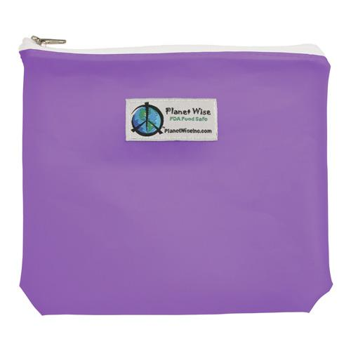 SECONDS - Planet Wise Reusable Tinted Zipper Sandwich Bag - Purple