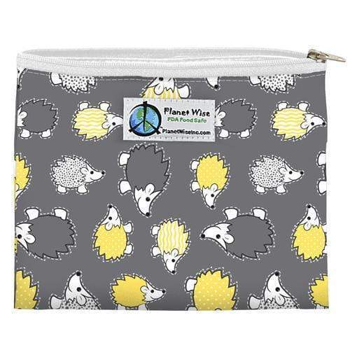 SECONDS - Planet Wise Reusable Zipper Sandwich Bag - Hedgehog