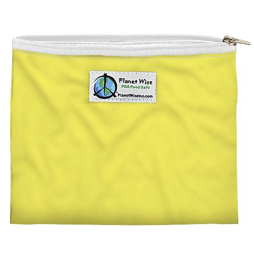 SECONDS - Planet Wise Reusable Zipper Sandwich Bag - Yellow