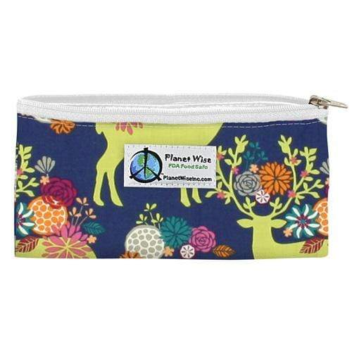 SECONDS - Planet Wise Reusable Zipper Snack Bag - Caribou Bloom