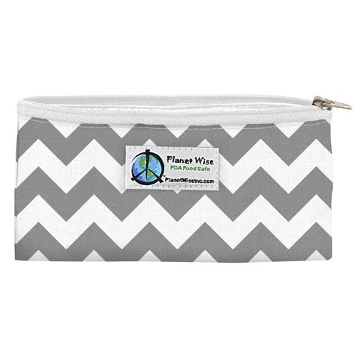 SECONDS - Planet Wise Reusable Zipper Snack Bag - Gray Chevron