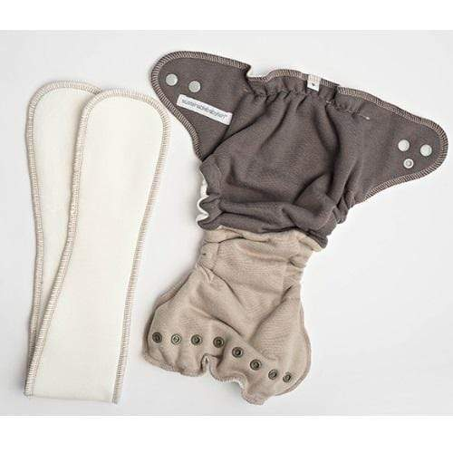 Sloomb Bamboo Fleece Fitted Diaper - Tabby