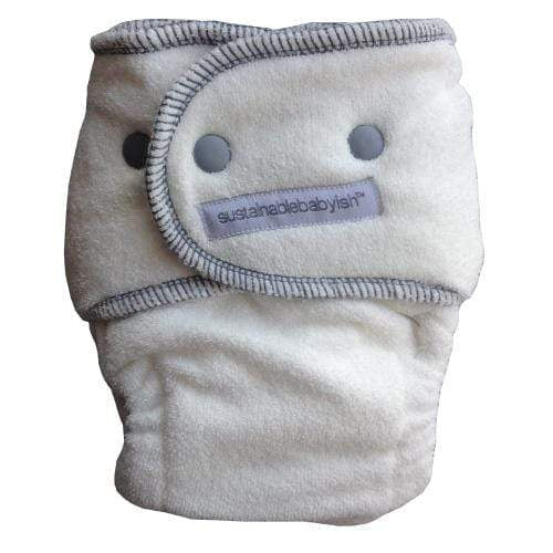 Sloomb Happy Little Clouds Bamboo Fitted Diaper - Storm Size 1