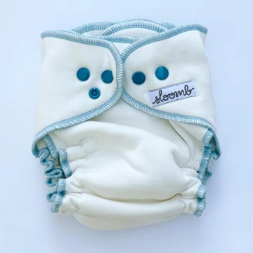 Sloomb Overnight Bamboo Fleece Fitted Diapers - Ether