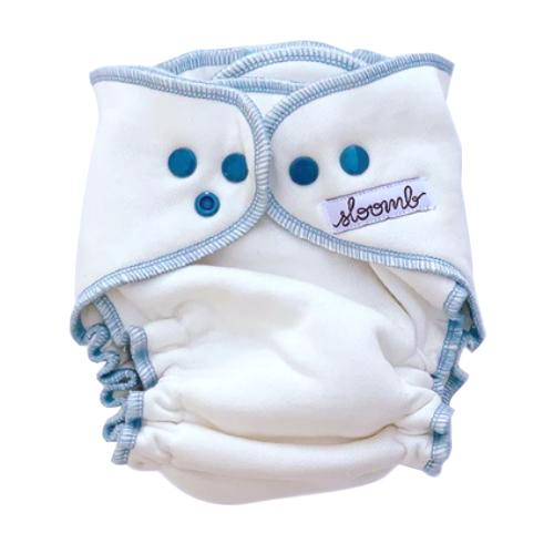 Sloomb Overnight Bamboo Fleece Fitted Diapers - Natural/Ether XS