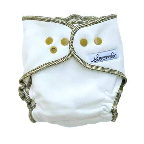 Sloomb Overnight Bamboo Fleece Fitted Diapers - Natural/Nettle
