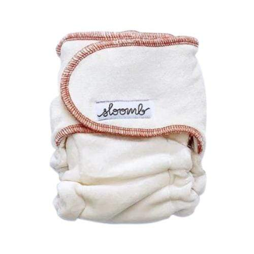 Sloomb Snapless Mini Bamboo Fitted Diaper - Loam