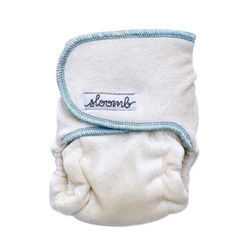 Sloomb Snapless Mini Velour Fitted Diaper - Ether
