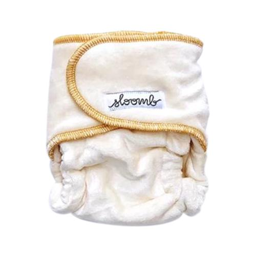 Sloomb Snapless Mini Velour Fitted Diaper - Yarrow