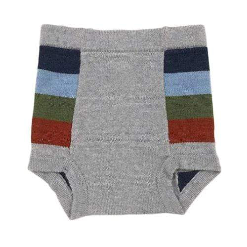 Sloomb Washable Double Layer Knit Underwoolies - Boxcar Stripe