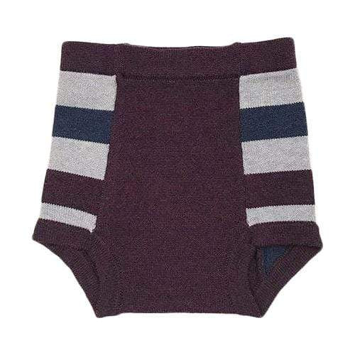 Sloomb Washable Double Layer Knit Underwoolies - Mulberry Stripe