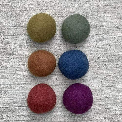 Sloomb Wool Dryer Balls 6 Pack - Rainbow