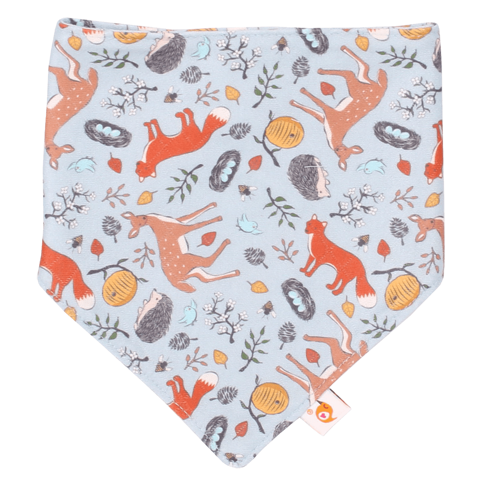 Smart Bottoms Bandana Bib - Forest Friends