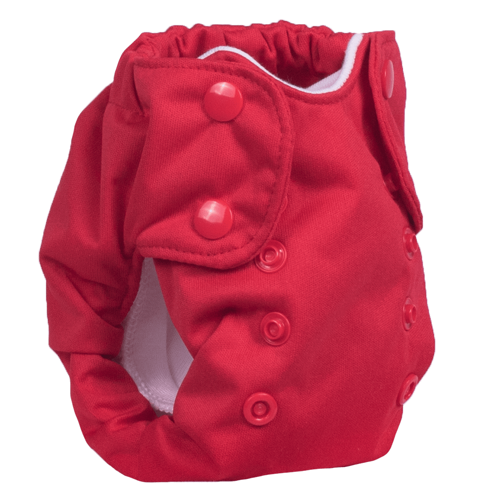 Smart Bottoms Born Smart 2.0 Newborn Cloth Diaper - Basic Red
