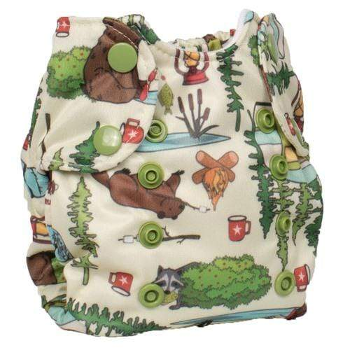 Smart Bottoms Born Smart 2.0 Newborn Cloth Diaper - Campfire Trails Newborn