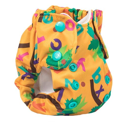 Smart Bottoms Born Smart 2.0 Newborn Cloth Diaper - Chicka Chicka Boom Boom ABC's Newborn
