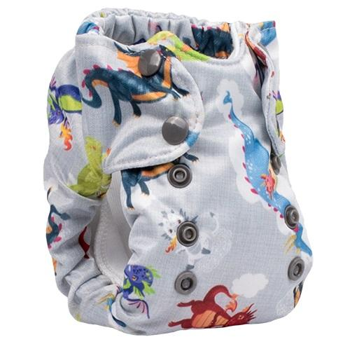 Smart Bottoms Born Smart 2.0 Newborn Cloth Diaper - Dragon Dreams Newborn