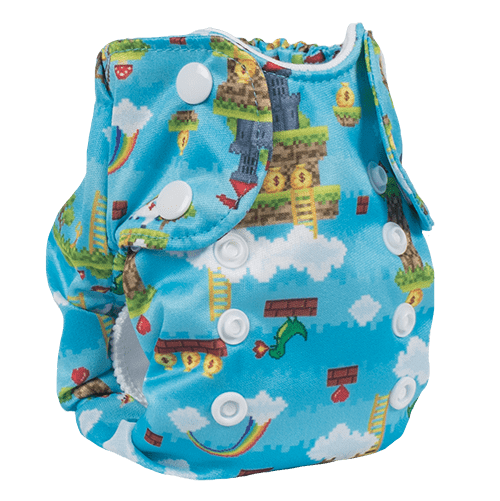 Smart Bottoms Born Smart 2.0 Newborn Cloth Diaper - Gamer