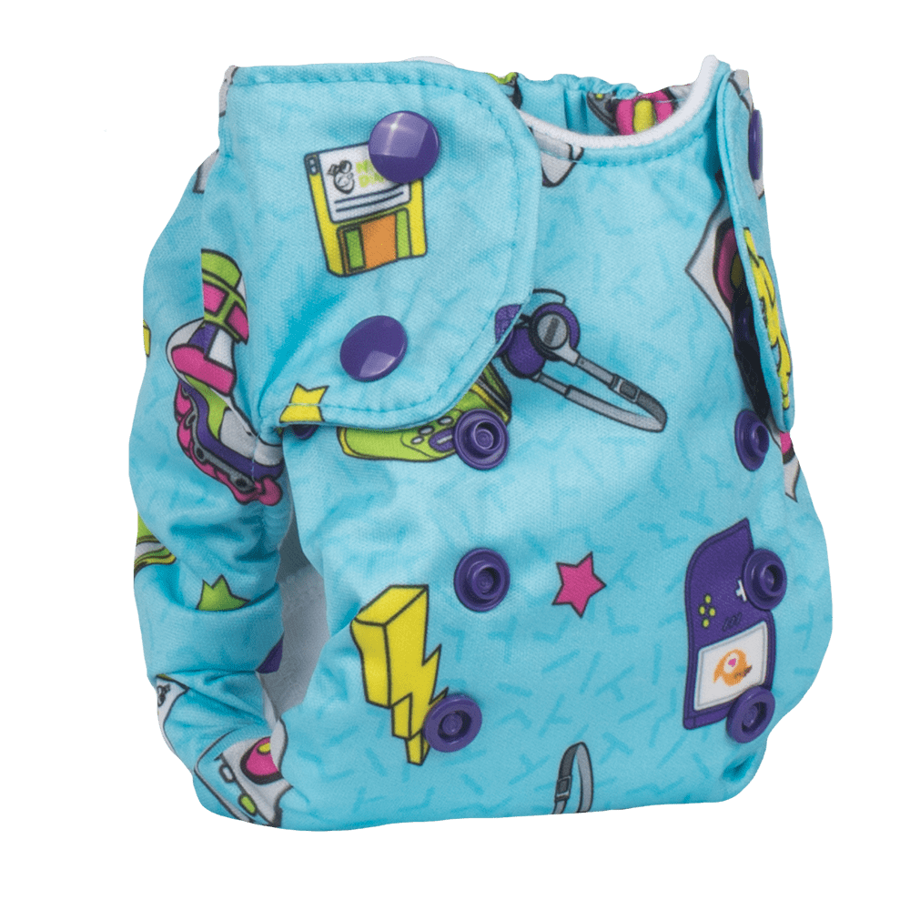 Smart Bottoms Born Smart 2.0 Newborn Cloth Diaper - Neon Nostalgia