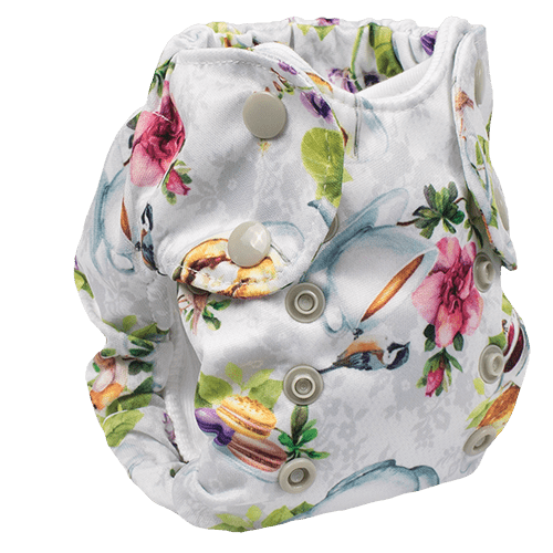 Smart Bottoms Born Smart 2.0 Newborn Cloth Diaper - Tea Party