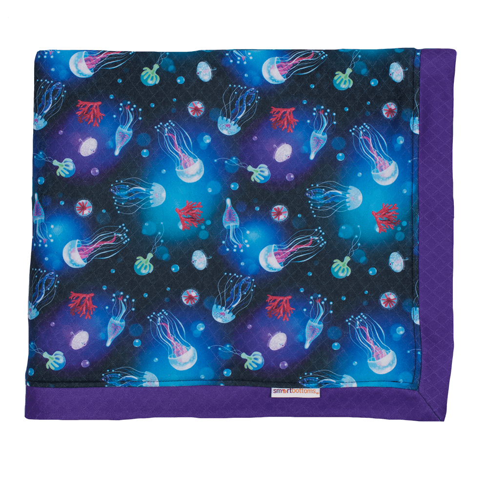 Smart Bottoms Cuddle Blanket - Ocean Blooms