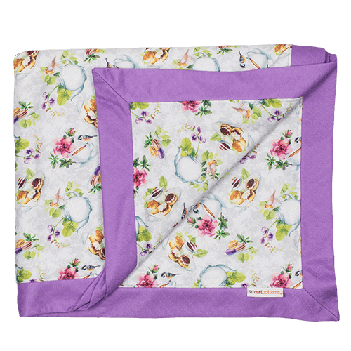 Smart Bottoms Cuddle Blanket - Tea Party