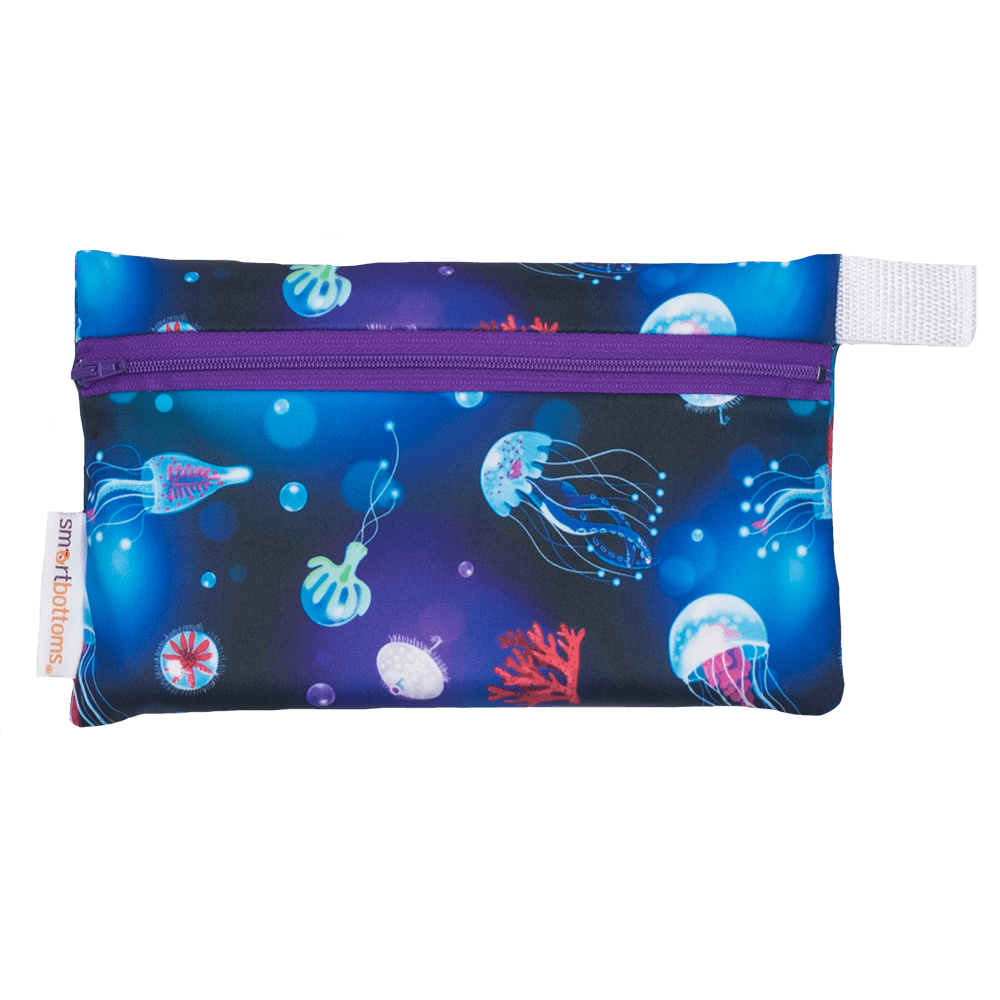 Smart Bottoms Mini Wet Bag - Ocean Blooms