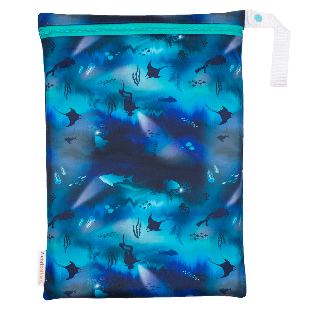 Smart Bottoms On The Go Wet Bag - Abyss
