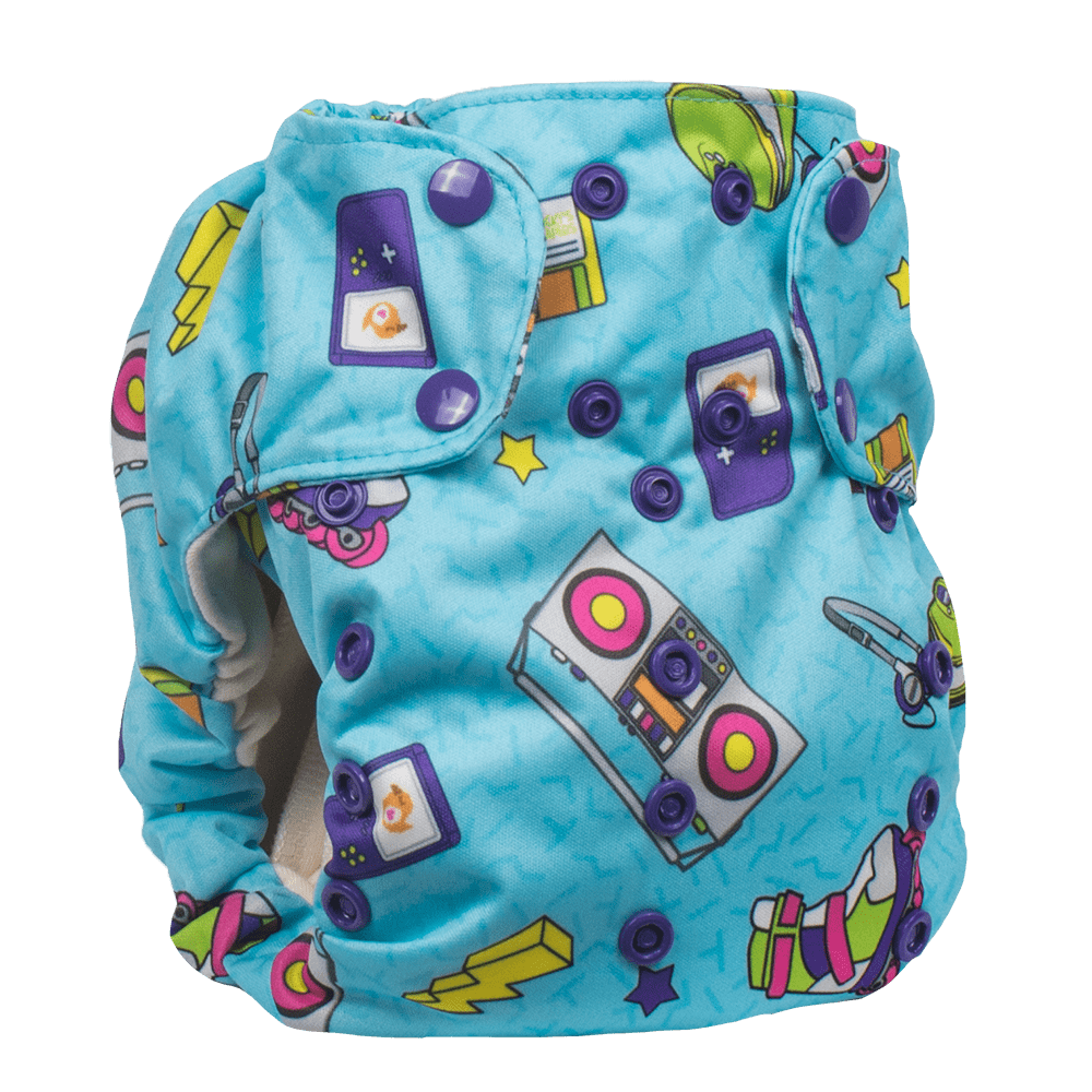 Smart Bottoms Smart One 3.1 Cloth Diaper - Neon Nostalgia