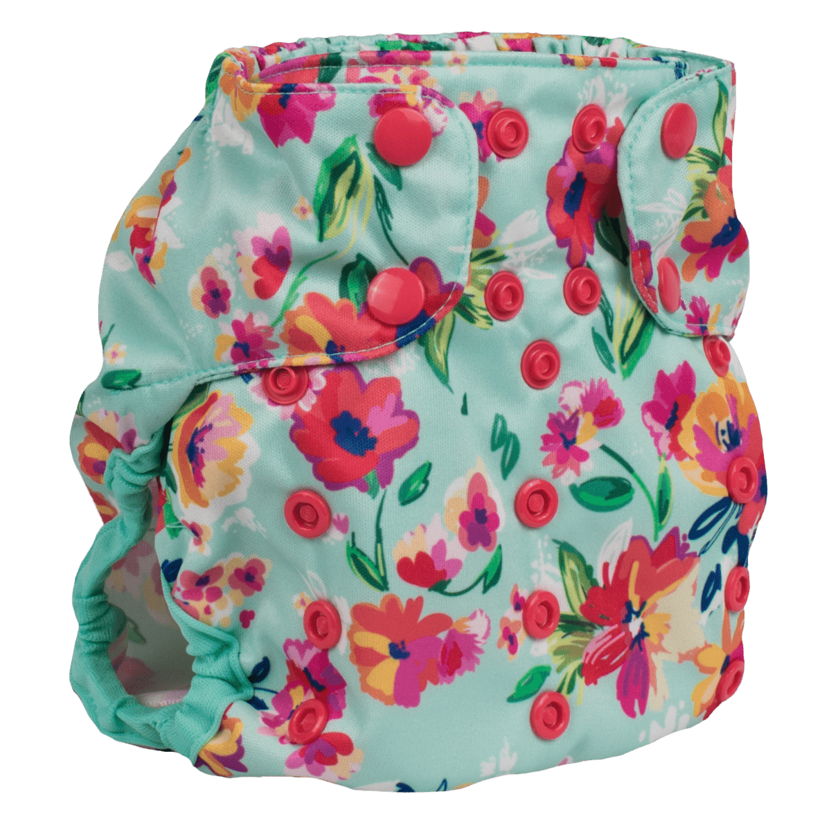Smart Bottoms Too Smart 2.0 Diaper Cover - Aqua Floral