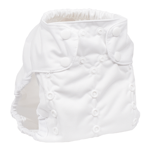 Smart Bottoms Too Smart 2.0 Diaper Cover - Basic White